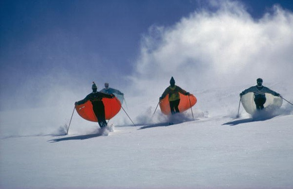 Caped Skiers