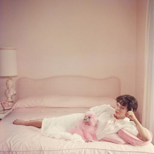 Joan Collins Relaxes