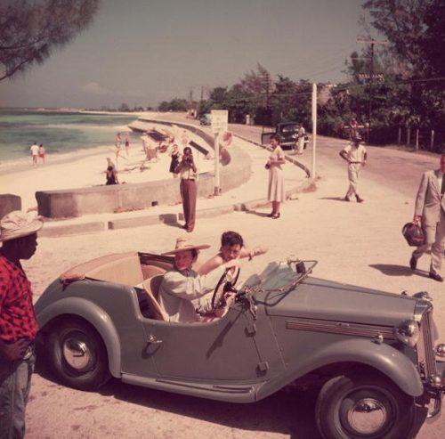 Katharine Hepburn, Montego Bay, Jamaica 1953