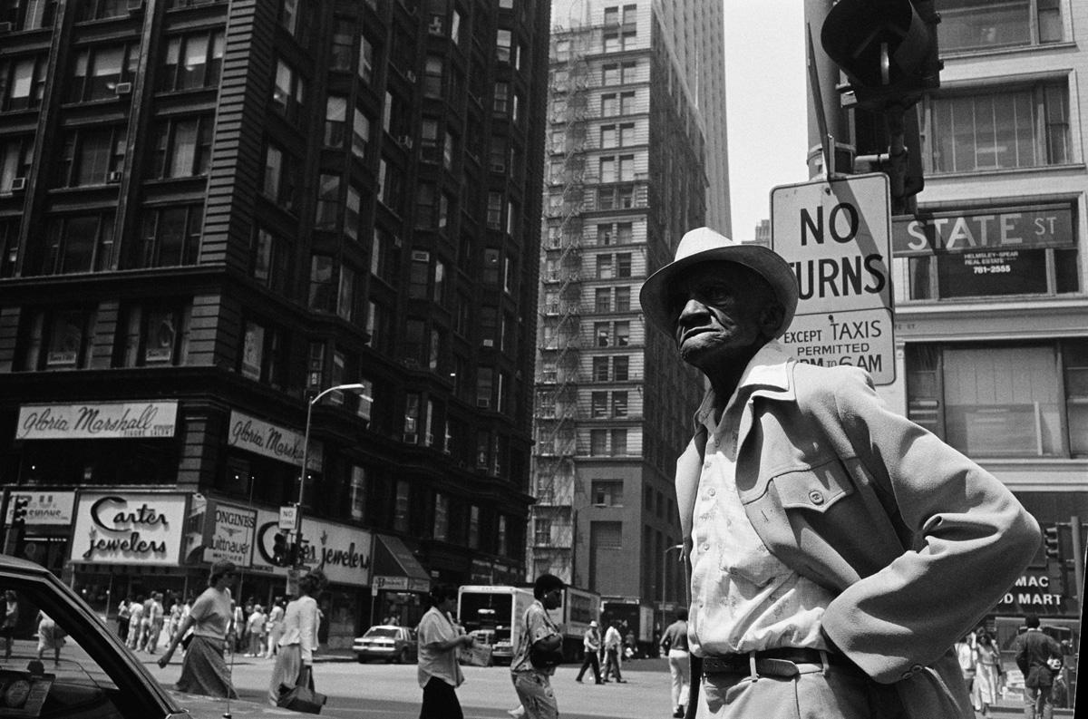 African-American man on street