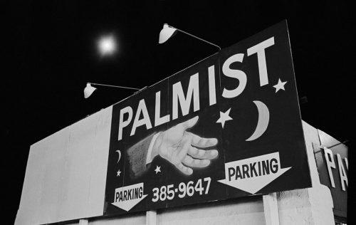 Billboard with palmist's hand