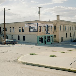 Radio shop in deserted street