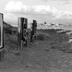 Shooting range in desert, Nevada