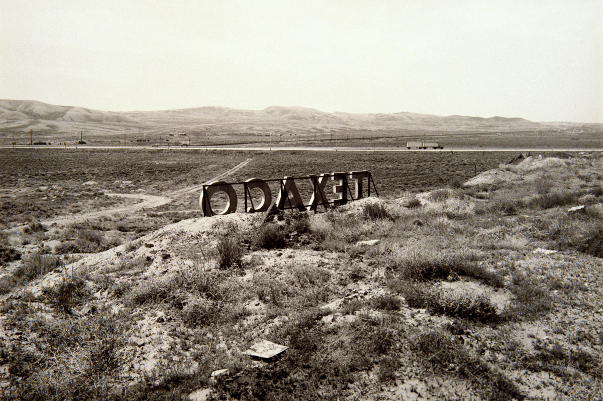 Texaco Sign between Ely and Tonopah, Nevada, 1986