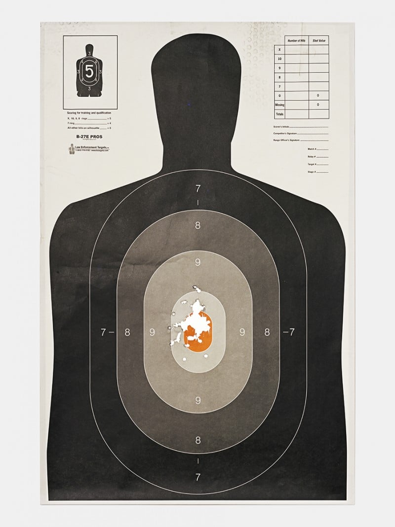 Target B, 2016, from the series L.A. Gun Club
