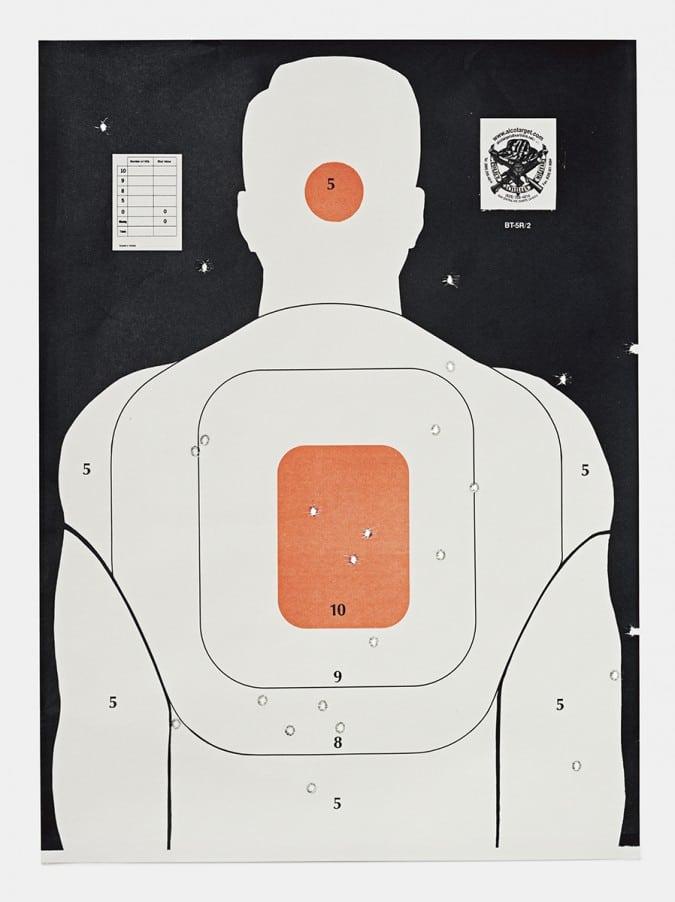 Target L, 2016, from the series L.A. Gun Club